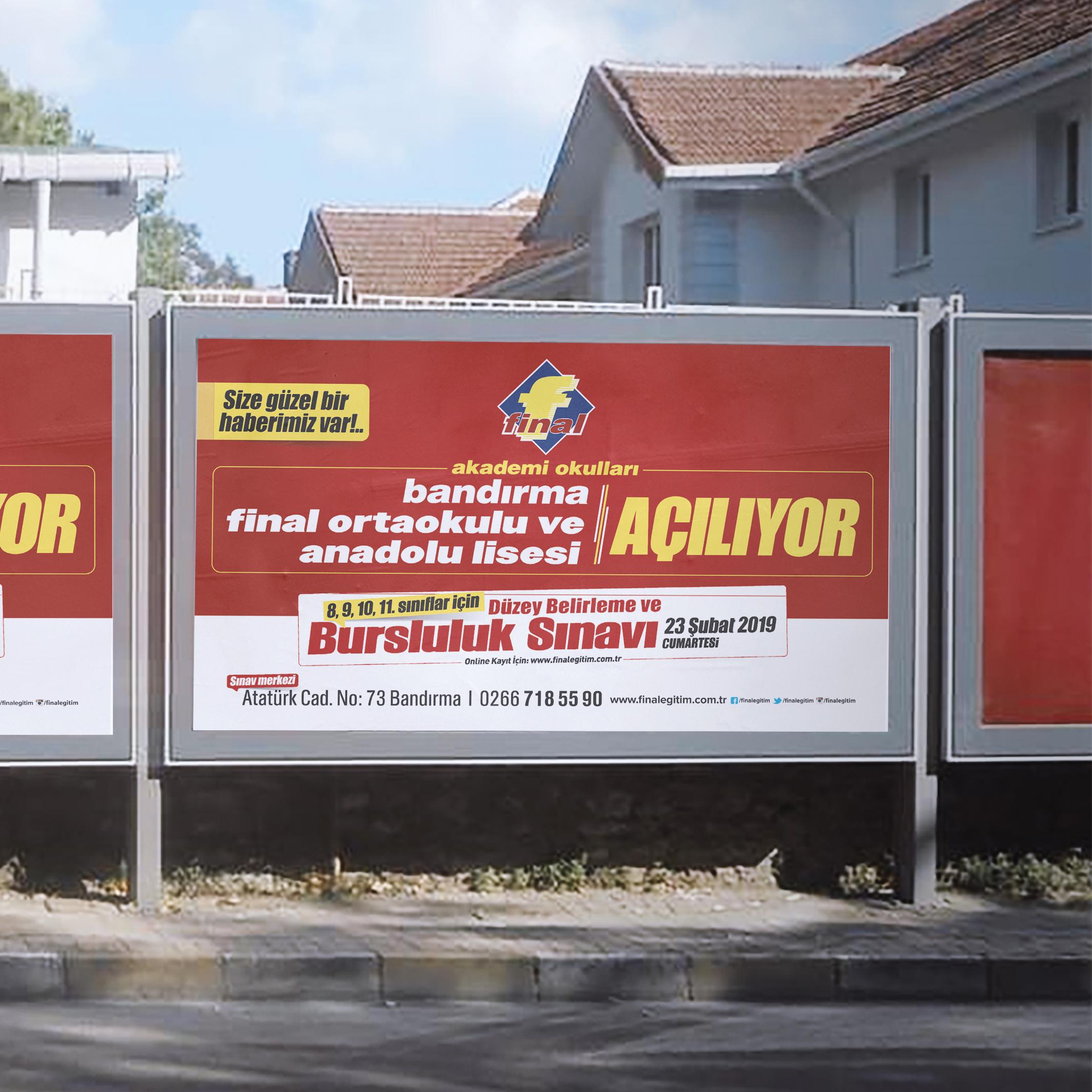 Final Akademi Okulları Billboard